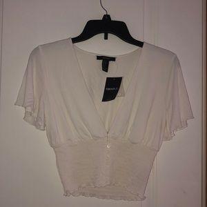 BRAND NEW White Flowy Sleeve Top
